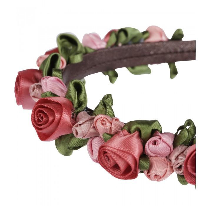 Haarreif mit Satin Rosen in Rosa