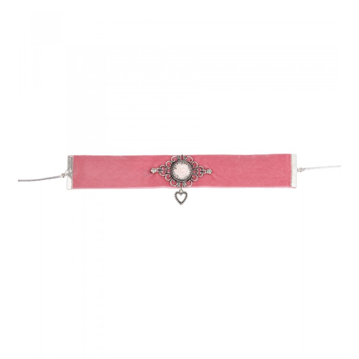 Kropfband in Rosa mit Rose