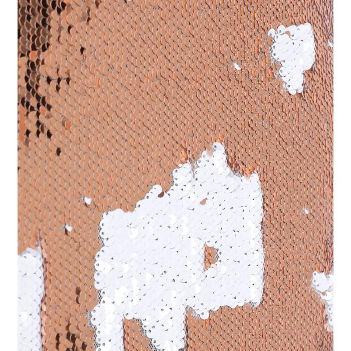 Capekleid mit Wende-Pailletten in Apricot