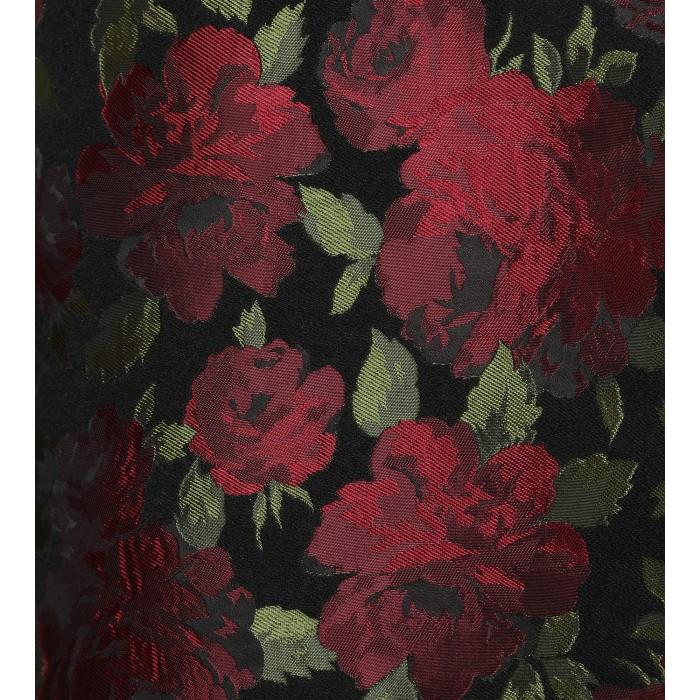 Cocktailkleid mit Rosenprint