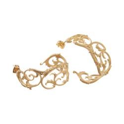 Filigrane Ohrringe in gold