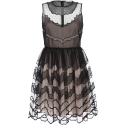 Kleid mit Seidenorganza-Bahnen