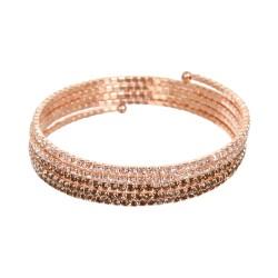 Spiralen-Armband mit Farbverlauf