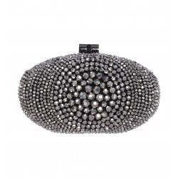 Box-Clutch mit glänzenden Perlen