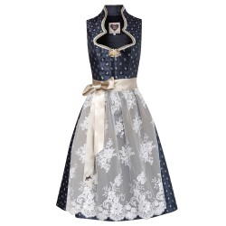 Dirndl Annabelle in Anthrazit
