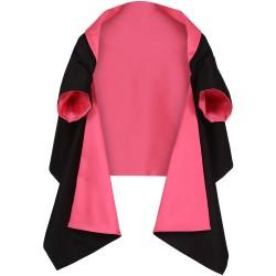 Zweifarbige Jacken-Stola zum Wenden