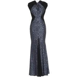 Paillettenkleid in Nachtblau