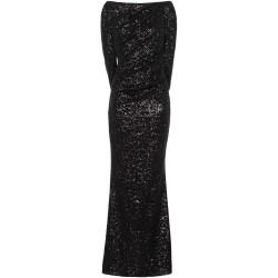 Paillettenkleid in Schwarz mit Cape