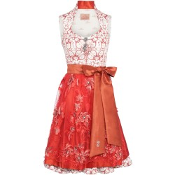 Dirndl in Rot/Coralle