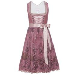 Dirndl in Rosa/Pink mit Spitzenschürze