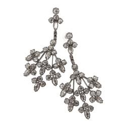 Florale Ohrringe mit Swarovski-Kristallen