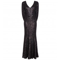Kleid mit Cape in Schwarz