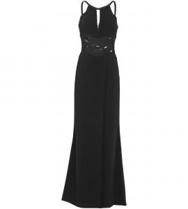 Kleid mit Cut-Outs an der Taille in Schwarz