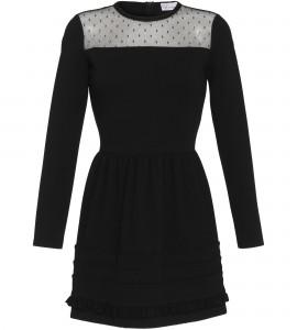Schwarzes Kleid mit romantischen Details