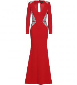 Robe mit edlen Swarovski Applikationen in Rot