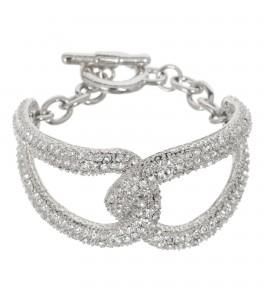 Armband mit Strasssteinen in Silber