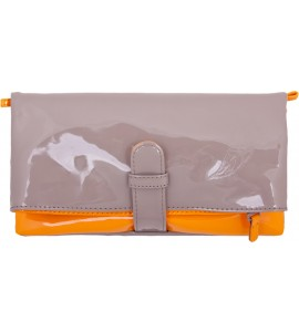 Wende-Clutch in beige/orange