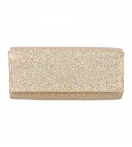 Glitzer-Clutch in Gold