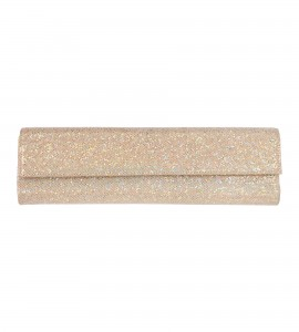 Schmale Glitzer-Clutch in Gold