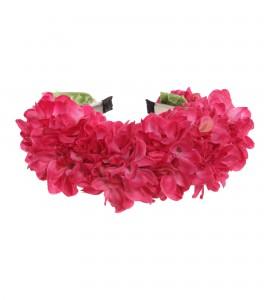 Breiter Haarkranz aus Seidenblumen