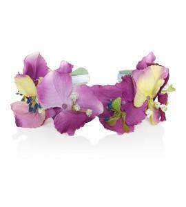 Haarkranz aus Hortensien-Seidenblumen mit Blättern