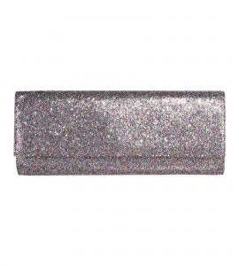 Glitzerclutch in Multicolor