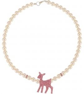 Perlenkette mit Bambi in Rosé