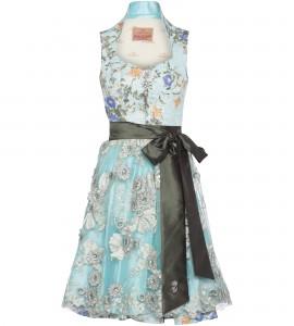 Dirndl in Hellblau mit Ornamentmuster