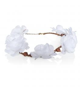 Haarband mit weißen Blüten und Nieten