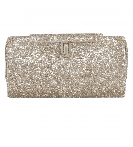 Glitzer-Clutch in Antik-Gold