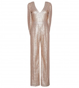 Jumpsuit mit Cape in Nude