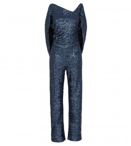 Jumpsuit mit Cut-Out in Holo-Blue