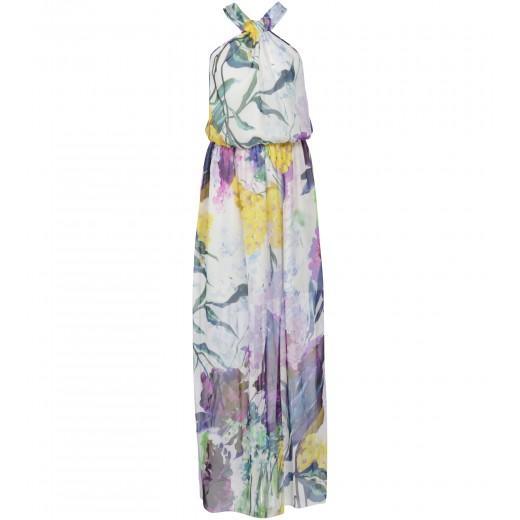 Seidenkleid mit sommerlichem Blumenprint