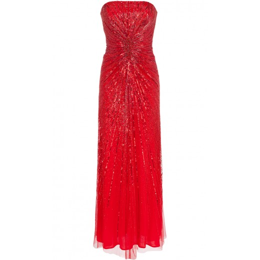 Bandeaukleid in Rot
