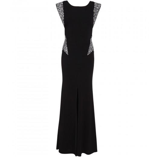 Kleid in Schwarz mit Crystal-Rocks