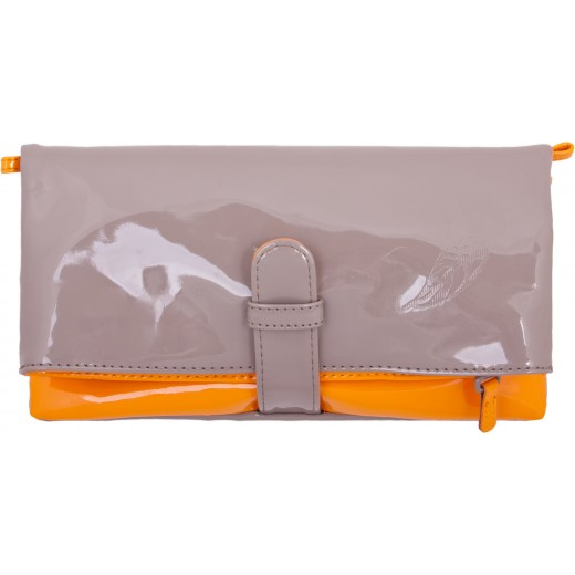 Wende-Clutch in beige/orange