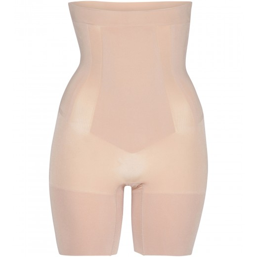 Oncore High-Waist Mid-Thigh Short in Nude