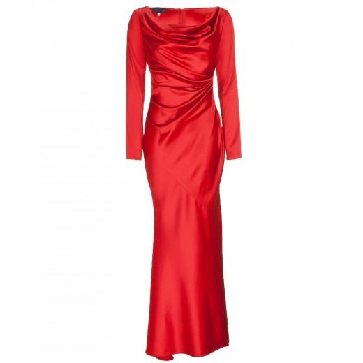 Bodenlange Robe in Rot