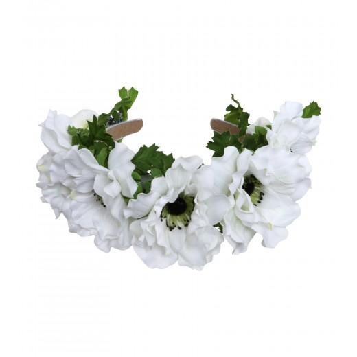 Haarreif mit weissen Blüten