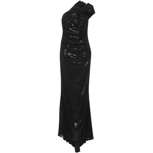One Shoulder Kleid in Schwarz