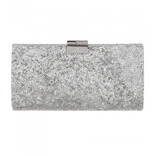 Clutch aus Crystal Rocks in Silber