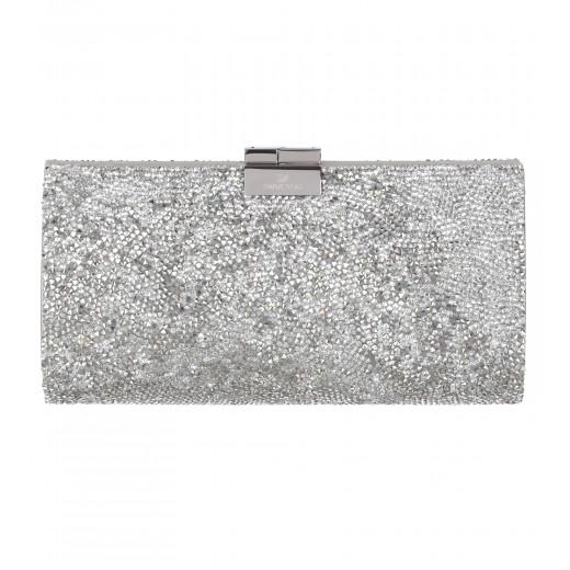 Clutch aus Crystal Rocks in Silber