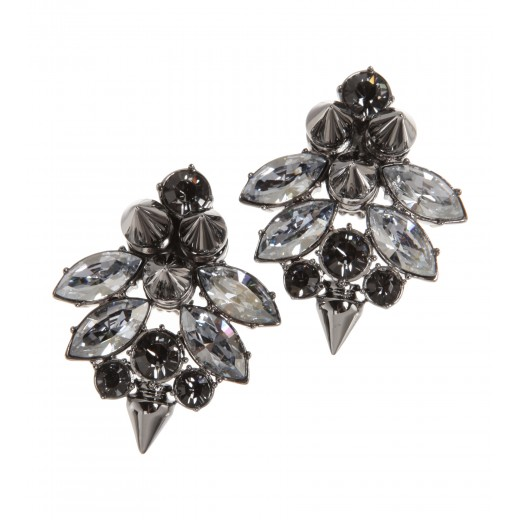 Ohrringe mit Kristallen und Nieten