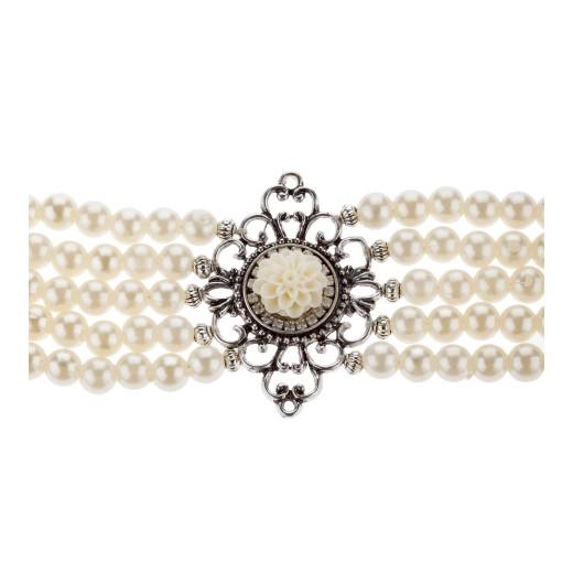 Kropfkette Perlentraum in Weiss