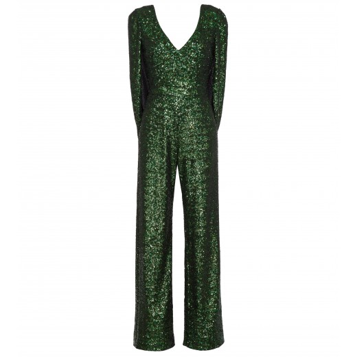 Jumpsuit mit Cape in Gruen