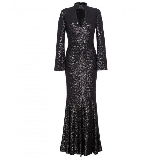 Kleid mit Cut Out in Schwarz