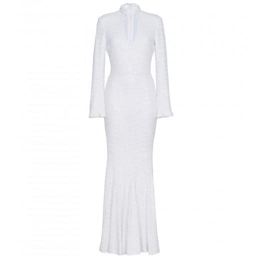 Kleid mit Cut Out in Weiß