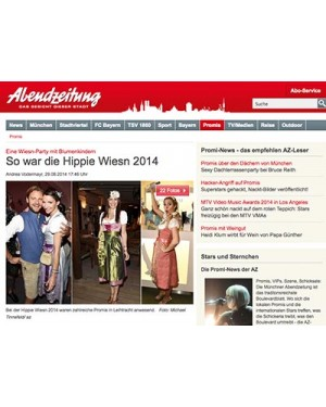 AZ.de: Hippie-Wiesn Event