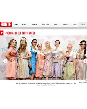Bunte.de: Hippie-Wiesn Event
