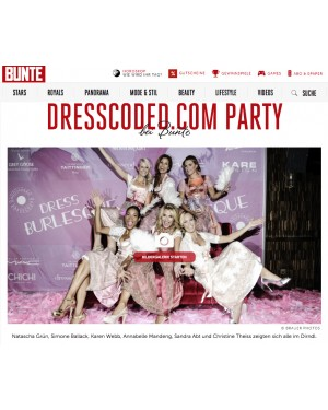 Bunte.de: Dressburlesque Party